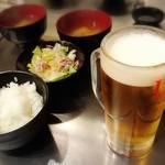 56031608 - ★ご飯・サラダ・味噌汁&生ビール(エビス)