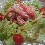 寿司ひでぞう - カニ身のたっぷりのサラダ