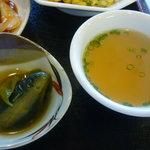チャイナダイニング煌 - 茄子のおひたし、中華スープアップ