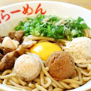 【名物!!パワフルジャンク系まぜそば『ガッツ麺』】