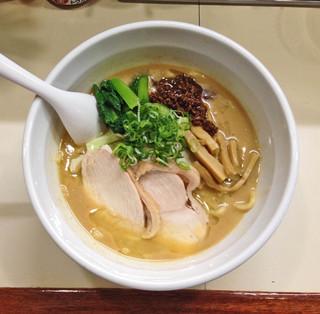 らーめん れんげ - 限定「鶏白湯味噌らーめん」800円