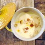 ガレット - ガレットセット(¥1200)のコーンスープ。ほんのりカレー風味です。