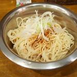 UMAMI SOUP Noodles 虹ソラ - 冷やし味付替玉(スルメオイル:2016年9月12日)