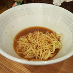 UMAMI SOUP Noodles 虹ソラ - 残ったスープに冷やし替玉を投入(2016年9月12日)