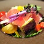 56051512 - 水茄子と生ハム 七品目の有機野菜