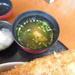 お食事処 はくさい - 味噌汁