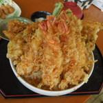 お食事処 はくさい - 料理写真:激盛穴子天丼