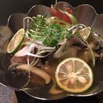 お料理 七草 - 鮑と喜知次の小鍋立