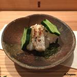 お料理 七草 - 鱧の焼霜造りにスタア胡瓜