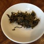 千熊ラーメン - サービスの辛子高菜