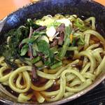56060969 - 山菜足立菜うどん(温) ¥580