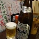 味の磯平 - 中瓶ビール500円(税抜)