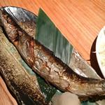 新橋魚金 - サンマの塩焼き