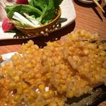 新橋魚金 - トウモロコシの天ぷら