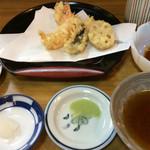 天竹 - 最初の揚げたての天ぷら。