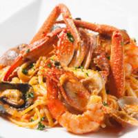 ドッパ! - doppa名物!タラバ蟹、海老、ムール貝のトマトクリームのパスタ