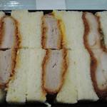 なおらい - ミシュラン3つ星懐石弧柳とコラボ、ミックスカツサンド1080円ソース付
