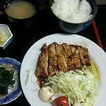 56077358 - 生姜焼き定食 お肉が厚い!