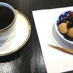56079315 - 豆家 茜 遠州(珈琲と煮豆のセット) fromグリーンロール