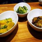 魚屋のピザ屋 ALBERO - 小皿3種類