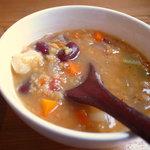ノワイヨ - レンズ豆とドライトマトの野菜スープ