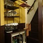 トラットリア イル ピスタッキオ - 店内 2階はお手洗い