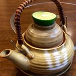 天竹 - 「松茸の土瓶蒸し」。久々。