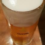 立ち呑み処なかや - ビールはサッポロ!! @400円!! 2016.9