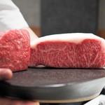 Steak Dining Vitis - 見せ肉(サーロインとウチモモ)