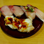 56095673 - ぶりポン酢194円、ゲソ93円、はまち297円