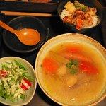 京町家 - 旬のポトフとミニ天丼(\1000)