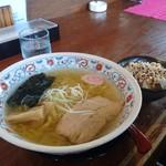 麺屋 華月 - 塩&豚マヨ丼セット