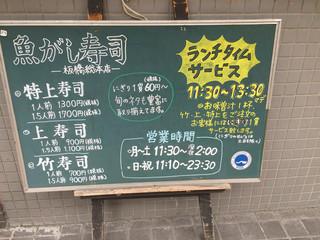 魚がし寿司 - メニュー