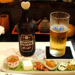 日本料理 川匠 - 氷無しホッピーと豪華なお通し