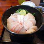 魚菜はざま - 料理写真:2016.9 ホタテ、タイ丼