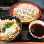 小諸そば - カツ丼セット(もりそば)600円
