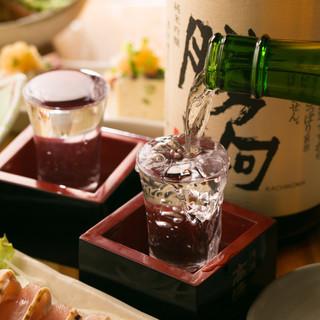 【常時20種以上】全国の日本酒を揃えています季節毎の味わいを