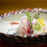 ひろ作 - 鯛とこち昆布締め