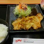安達太良サービスエリア(上り線) レストラン・スナックコーナー - 料理写真:生姜焼き定食