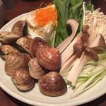 Obubu - はまぐり鍋の具材
