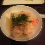 ラ ロンジェビテ - 鮭と栗の炊き込みご飯+お出汁付き。