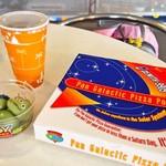 パン・ギャラクティック・ピザ・ポート - ダブルソーセージピザ&リトルグリーンまん