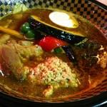 Supukariandohambagutatsuki - 海老味噌 豚の角煮、ゴマ風味納豆!具だくさん!