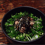 吉山商店 - 2016年9月       ネギ肉ごはん