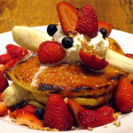 ジェイエス パンケーキカフェ - ストロベリーバナナパンケーキ≪French Pancake/苺500%増量≫(アップ)