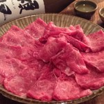 虹晴れ - 5400コースの和牛すき焼き。霜降りの佐賀牛です。