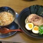 らぁ麺 せさみ - らぁ麺せさみ デラックスつけ麺 950円