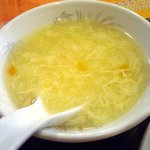 栄華楼 - 「ホイコーロ定食」中華スープ