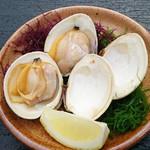 海湘丸 - 料理写真:白ハマグリ 1枚280-
