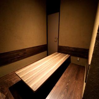 個室6名様まで。当店に一つのプレミアムシートです。